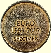 Token - 1 Euro 1999-2002 Specimen – reverse