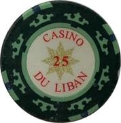 25 Livres - Casino Du Liban (Poker Chip) – reverse