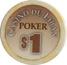 1 Dollar - Casino Du Liban (Poker Chip) – obverse