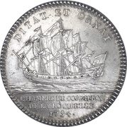 Token - Louis XV (Chamber of commerce La Rochelle) – reverse