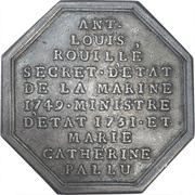Token - Antoine-Louis Rouillé, secrétaire d'Etat à la Marine – reverse