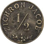 ½ Piastre - Zichron Jacob – obverse
