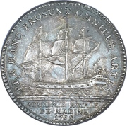 Token - Louis XV (Academie Royales de Marine) – reverse