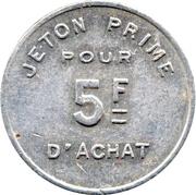 5 Francs - La Maison du Savon (Paris) – reverse