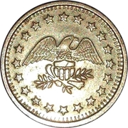 Token - No Cash Value (Eagle looking right; 22.5 mm; Brass) – obverse