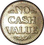 Token - No Cash Value (Eagle looking right; 22.5 mm; Brass) – reverse