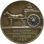 Token - Brussels International Exposition of 1935 (Les Flandres) – reverse