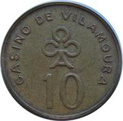 10 Escudos - Casino de Vilamoura (Quarteira) – obverse