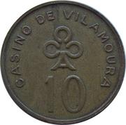 10 Escudos - Casino de Vilamoura (Quarteira) – reverse