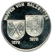 Token - 100 years brine bath Salzgitter-Bad – reverse