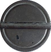 Game Token (with 1 groove) – reverse