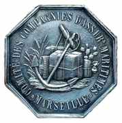 Token - Commitee of the maritime insurance company of Marseille – reverse
