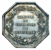 Chamber of commerce Marseille – reverse