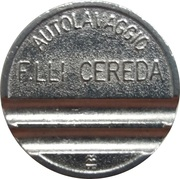 Car Wash Token - Autolavaggio F.Lli Cereda (Carnate) – reverse