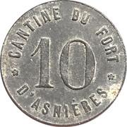 10 Centimes - Cantine du fort d'Asnières – reverse