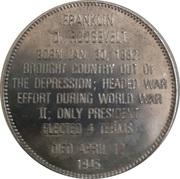 Token - Presidential Hall of Fame (Franklin D. Roosevelt) – reverse