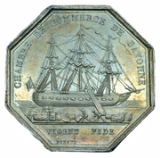 Chamber of commerce Bayonne - Louis Phillipe I – reverse