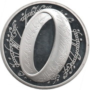 1 Ring - Elizabeth II (The lord of the rings) – reverse