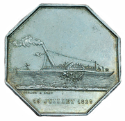 Token - Steam ship passenger ship company on the Saone river – obverse