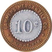 10 Cents - Farmers Mercantile Co. (Dwight, Nebraska) – obverse