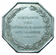 Token - Steam ship passenger ship company on the Saone river – reverse