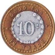 10 Cents - Farmers Mercantile Co. (Dwight, Nebraska) – reverse