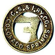 1 Full Fare - Colorado Springs & Interurban Railway Co. (Colorado Springs, Colorado) – obverse