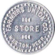 5 Cents - Farmers Union Company Store (Weston, Nebraska) – obverse