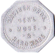1 Dollar - Kacirek Brothers General Merchandise & Hardware (Weston, Nebraska) – obverse