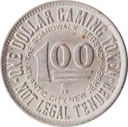 1 Dollar - The Boardwalk Regency (Atlantic City, New Jersey) – reverse