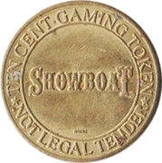 10 Cent Gaming Token - Showboat (Atlantic City, New Jersey) – obverse
