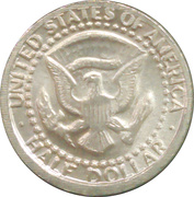Mini coin - ½ Dollar Kennedy Half Dollar – reverse