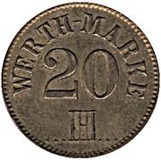 20 Pfennig (IHI) – obverse