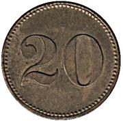 20 Pfennig (IHI) – reverse