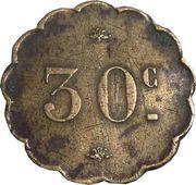30 Centimes – reverse