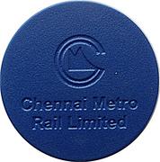 Metro Token - Chennai – obverse