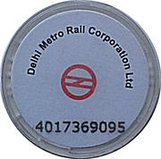 Metro Token - Delhi – reverse