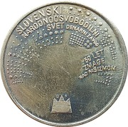 Token - 50th Anniversary of victory over fascism – obverse