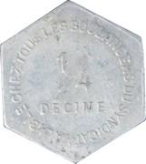 ¼ Decime - Chambre Syndicale des Patrons Boulangers (Saint Nazaire) – reverse
