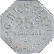 25 Centimes - O. Michelet - Pau [64] – reverse