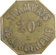 20 Centimes - Tramways de la Rochelle – obverse