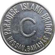 Token - Paradise Island Bridge (C; Nassau, Bahamas) – reverse