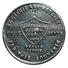 5 Cents - The Merchants Rubber Co. (Berlin, Ontario) – obverse