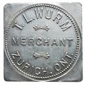 1 Dollar - T.L. Wurm (Zurich, Ontario) – obverse