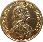 4 Ducats - Franz Joseph I 1872-1915 – obverse