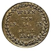 Medallion - Austrian Revolution – reverse