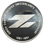 Medal - Zurich Canada (Switzerland's 700th) – obverse