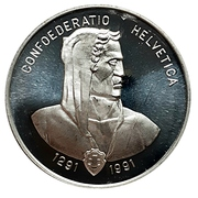 Medal - Zurich Canada (Switzerland's 700th) – reverse