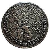 Restrike - Counts of Schlick - Joachimsthaler 1520 – reverse