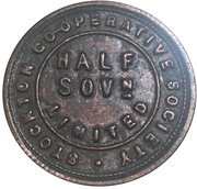 ½ Sovereign - Stockton Co-operative Society – obverse